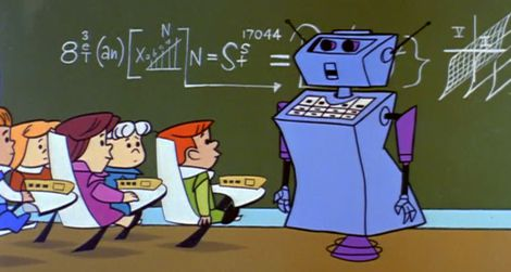 The teacher in cartoon series The Jetsons.